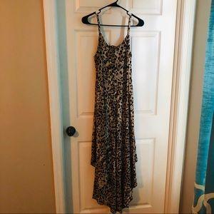 Sam and Jess  leopard cage back romper dress M
